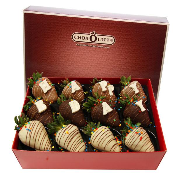 Chokolatta Happy D-day Chocolate Covered Strawberries