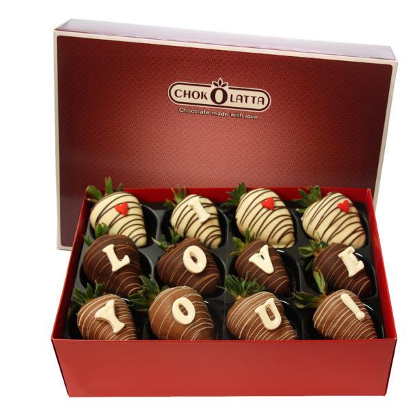 Chokolatta I Love You Chocolate Covered Strawberries