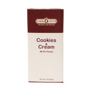 Chokolatta Chocolate Bars Cookies & Cream